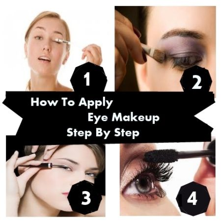 how To Apply Eye Makeup Step By Step | Health Care | Pinterest