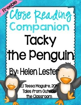 Close Reading Companion: Tacky the Penguin {freebie}