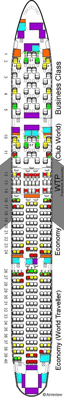 British Airways 777 seat plan | British airline, British ...