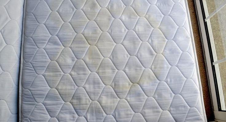 Heb je een matras dat onder de vlekken zit? Verwijder ze eenvoudig met deze 3 ingrediënten!