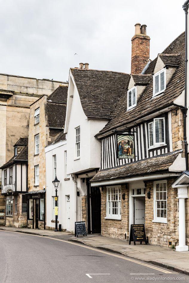 Pretty street in Stamford, England