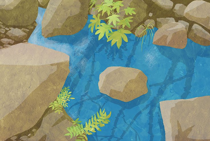 Illustration for New year's card book published in shoeisha.  #illustration #illustrator #water #river #riverside #イラスト #イラストレーション #イラストレーター #川 #水 #河原
