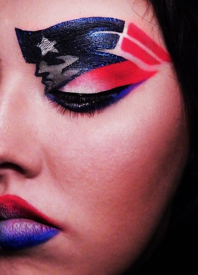 Impressive #Patriots makeup!
