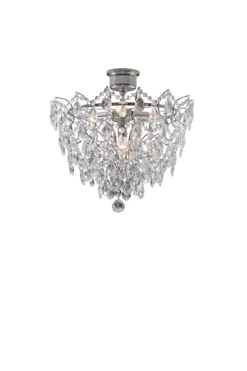 Den här oerhört snygga kristallplafonden Rosendal 4 kommer från tillverkaren Markslöjd. Rosendal 4 ger rummet en exklusiv känsla! Bredd: 48 cm. Djup 48 cm.Höjd 42 cm. Ljuskällor 4 x E14 40w.