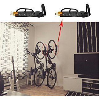 Bicicleta garaje gancho de la percha de montaje en pared soporte rack de almacenamiento soporte de acero + tornillos