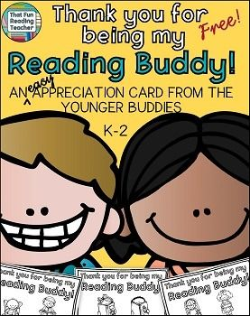 Reading Buddies: Reading Buddy CardThese print, fold and go Reading Buddy Cards are a quick and easy way for younger students to show their Reading Buddies
