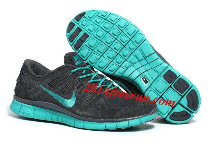 Mens Nike Free 5.0 EXT Deep Grey Green Running Shoes