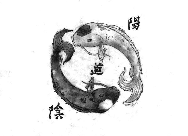 die besten 25 yin yang zeichen ideen auf pinterest. Black Bedroom Furniture Sets. Home Design Ideas