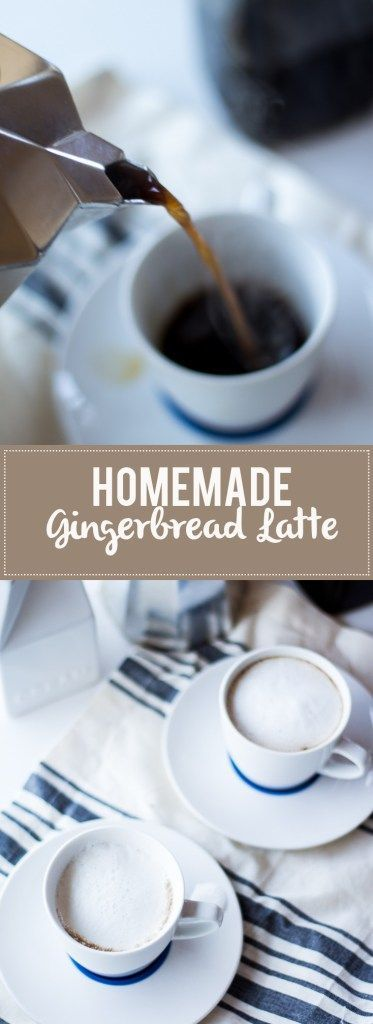 Make your own gingerbread latte at home! No need to spend $5/drink at the coffee shop or buy that creamer full of chemicals!