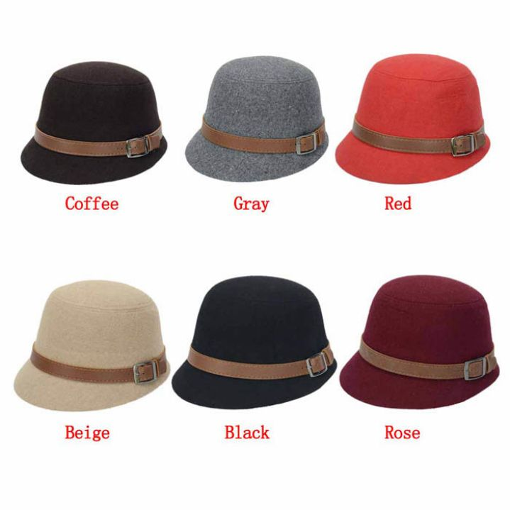 >> Click to Buy << Hot Marketing  Fashion Solid Color Women Beach Belt Buckle Felt Bowler Fedora Hat Bowler Caps Drop Shipping #Affiliate