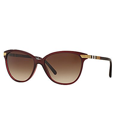 Burberry Heritage Color Block Square Check Cat Eye Sunglasses #Dillards