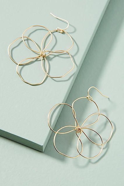 Great Anthropologie Pansy Drop Earrings