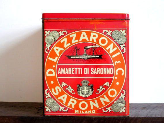 Vintage  Italian Biscotti Large Tin by EastonandBelt on Etsy