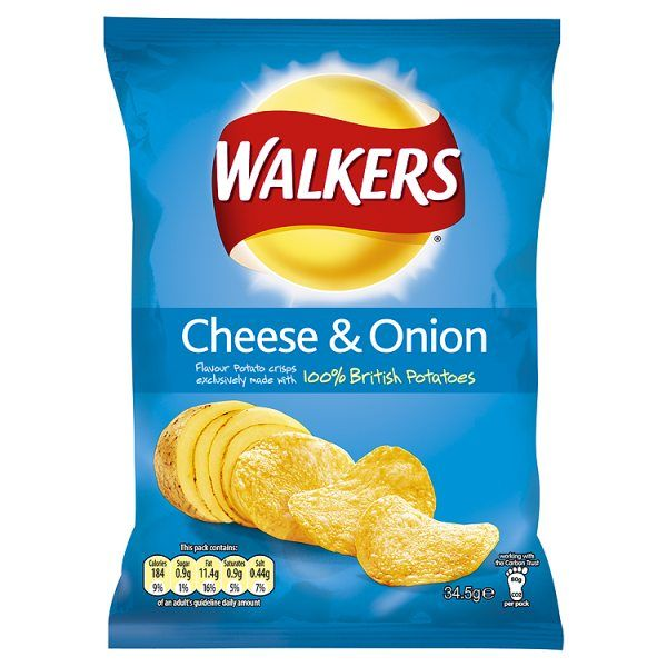 Cheese & Onion Crisps.