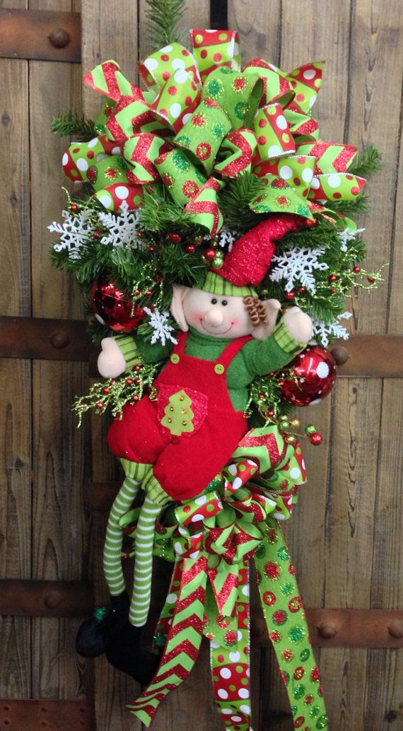Whimsical Elf Door Swag by WilliamsFloral on Etsy, $89.00