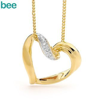 Buy E01 - Sliding Gold and Diamond Heart (BEE-64748) online at Chain Me Up