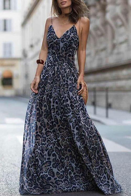 dc0e8d750 Leopard Print Maxi Dress in 2019 | Šaty | Šaty