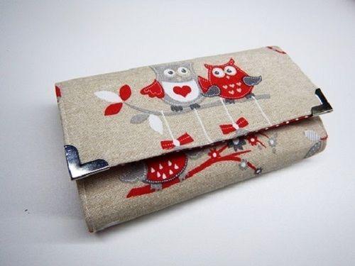 sovička červená -peněženka i na karty