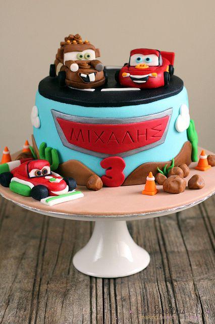 Cars Cake 1 by sweetius.com, via Flickr