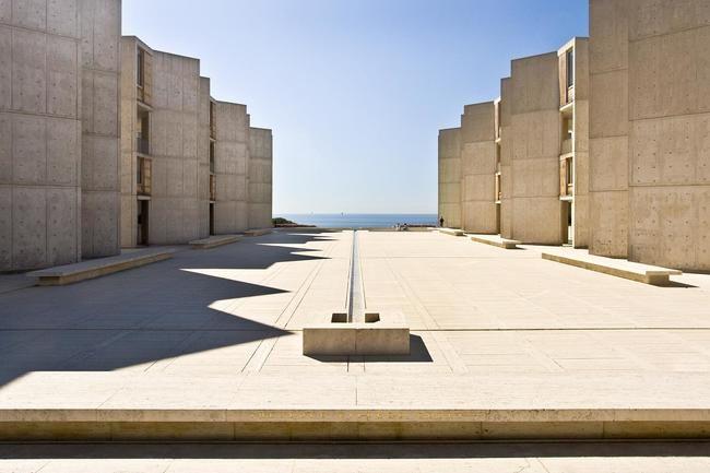 The infamous Salk Institute designed by Louis Kahn. Photo: Naquib Hossain/Flickr.