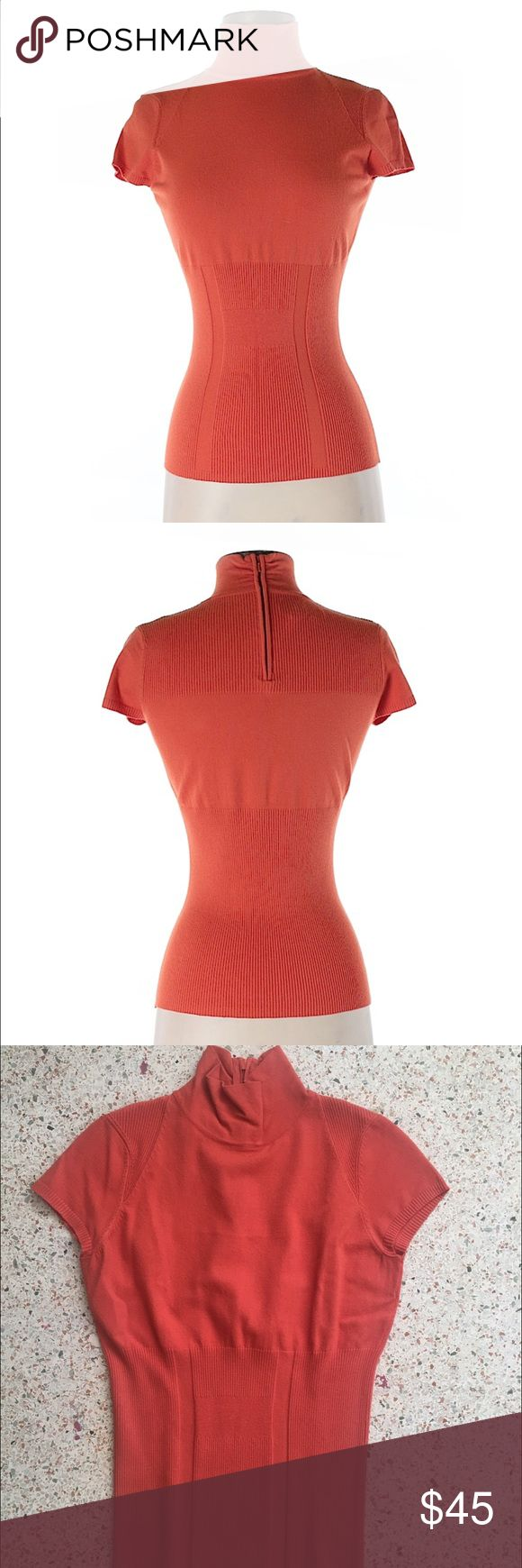 Great condition Etcetera Orange Women's Top In great condition with only minor wear (worn a couple times only).  All photos above are of the actual shirt, including mannequin pics.  Women's US Size Small.  Selling because the color orange apparently doesn't suit my skin tone very well, but it's really comfortable and cute for business or pleasure. Etcetera Tops