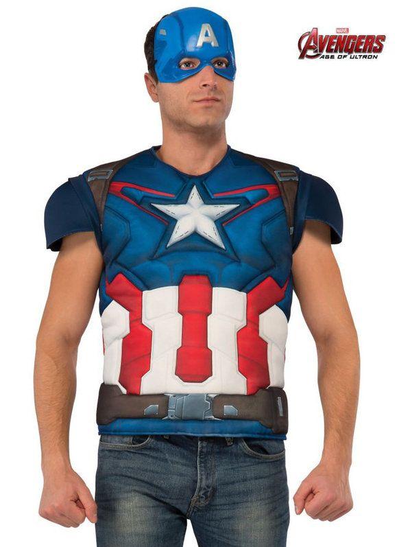 Avengers 2 Captain America Top Costume Adult