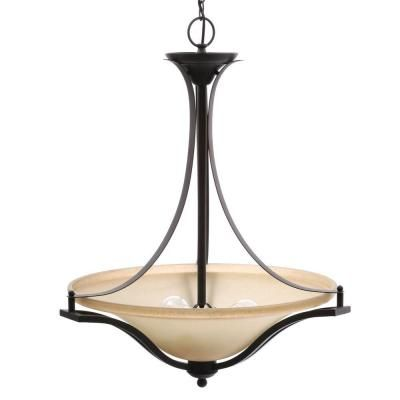 Commercial Electric 3-Light Rustic Iron Pendant-ESS8913 - The Home Depot