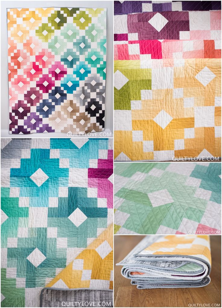 1000+ ideas about Colorful Quilts on Pinterest Quilt patterns, Scrap quilt patterns and Easy ...