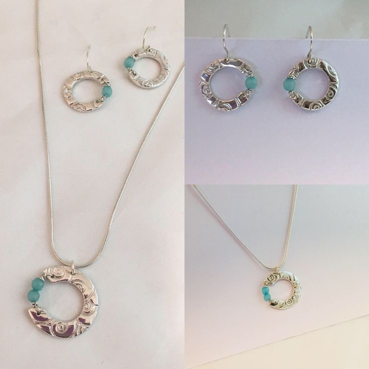 Fine Silver and Ammonite Pendant Necklace and Earring Set by NuitNuitDesigns on Etsy https://www.etsy.com/uk/listing/567009129/fine-silver-and-ammonite-pendant