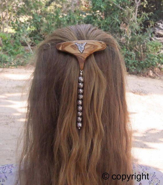 Fashion Week Hair Barrettehand made from olive by ellenisworkshop