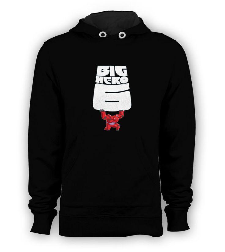 Big Hero 6 Baymax Pullover Hoodie Men Sweatshirts Tee All Size Black New #Hanes #Hoodie