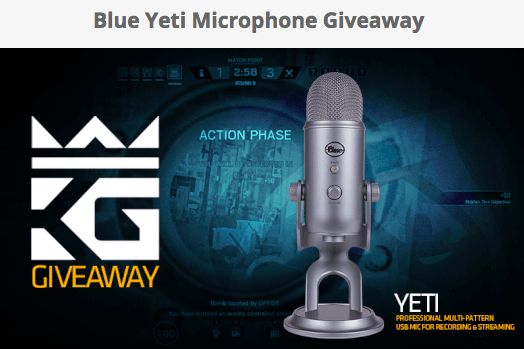 Enter for a chance to win a Blue Yeti Microphone. Restrictions: 13 or older Frequency: Daily Entry End Date: January 31, 2018