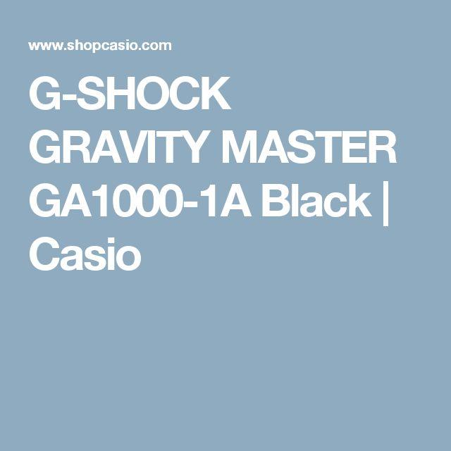 G-SHOCK GRAVITY MASTER GA1000-1A Black | Casio