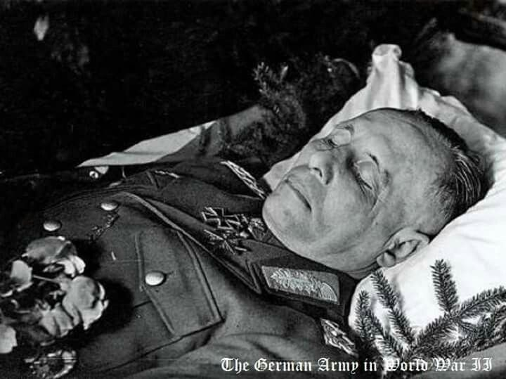 Erwin Rommel (November 15, 1891 -   October 14, 1944)  Field Marshal Erwin Rommel was forced to commit suicide with a cyanide pill by Hitler.  http://www.deseretnews.com/article/865613191/This-week-in-history-Erwin-Rommel-forced-to-commit-suicide.html?pg=all, http://www.dailymail.co.uk/news/article-2254904/Letter-reveals-Rommels-son-account-general-fathers-moments-ordered-commit-suicide-Hitler.html