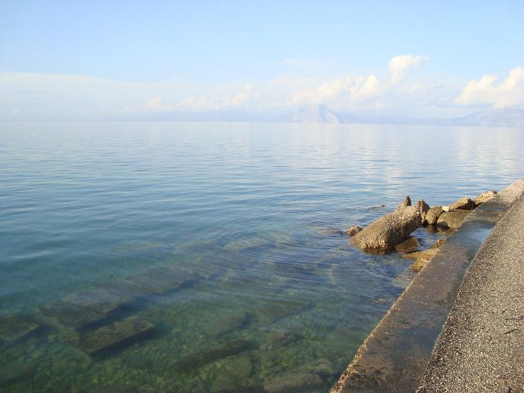 The sea at Roitika, Patras