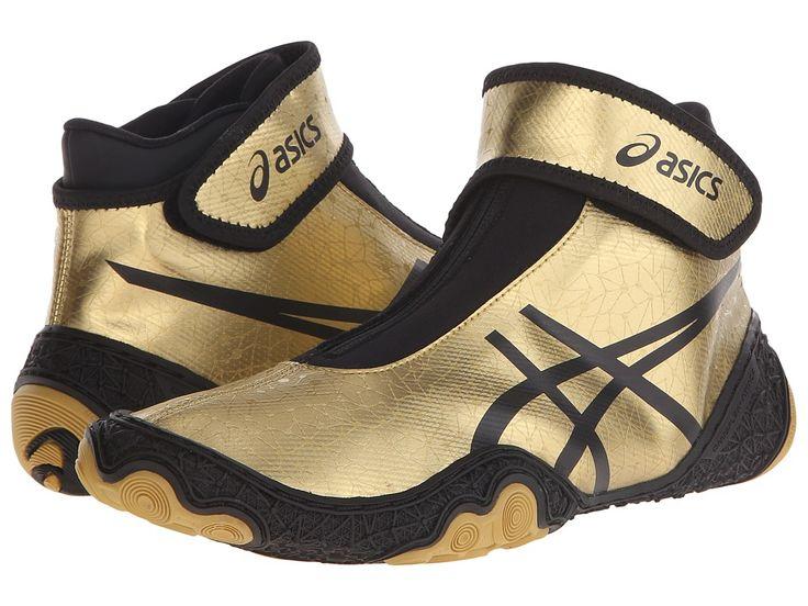 ASICS ASICS - OMNIFLEX-ATTACKTM V2.0 (GOLD/BLACK) MEN'S WRESTLING SHOES. #asics #shoes #