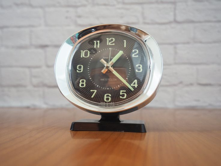 Westclox Baby Ben Wind Up Alarm Clock Black and Chrome / Midcentury Modern Home Decor by FireflyVintageHome on Etsy