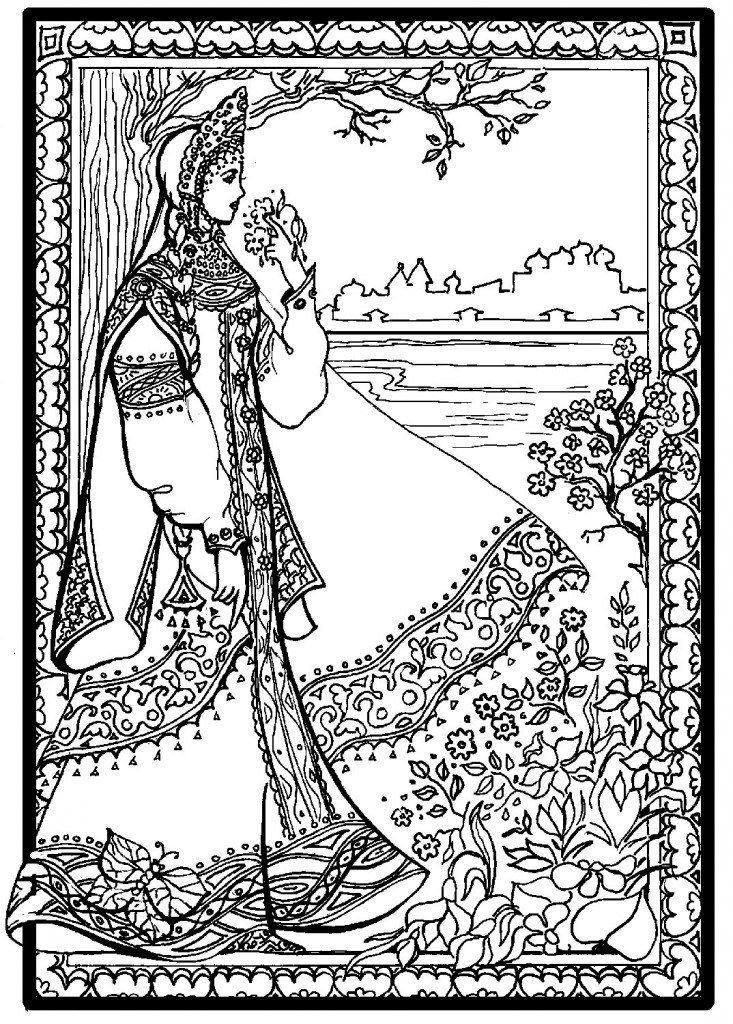 "Coloring Book ""Russisch kostuum"" Afb.  8"