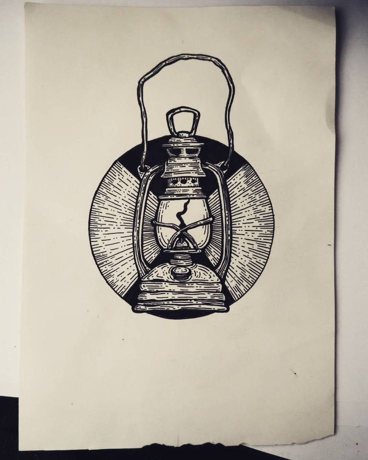 Quick old lantern drawing - archival ink pen  KUPFERSTICH <3