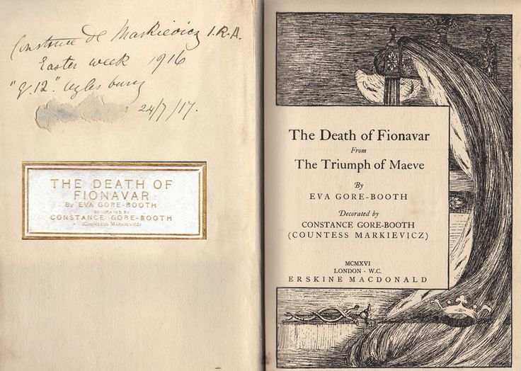 """Easter week 1916 reads Eva's """"Death of Fionavar""""; July 1917 as  No12 prison inmate in Aylesbury"""