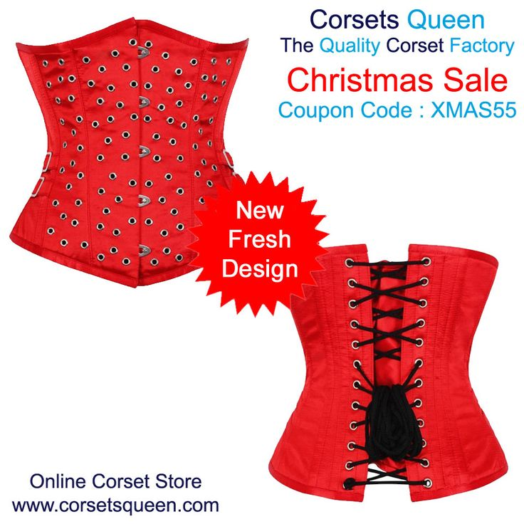 Red and Silver Corset Dress, Silver Dress for Plus Size, Underbust Corset Dress