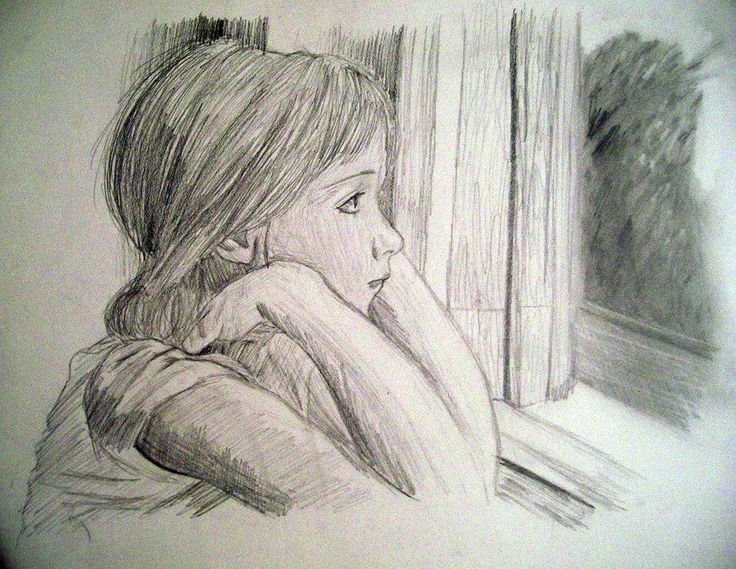 sad girl sketch - Google Search | art ideas | Pinterest | Sad Girl ...