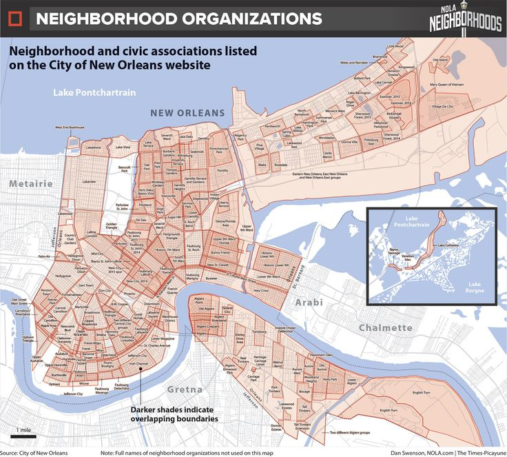 How do we map New Orleans 185