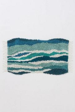 Sechura Bathmat, Turquoise contemporary bath mats
