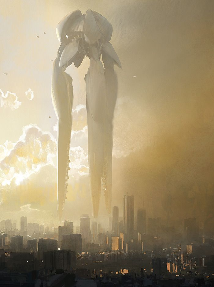 Jaime Jones - Really like the massive scale presented here, along with the colours. The mecha design echoes somethign more aquatic than human made which gives it a more alien feel.