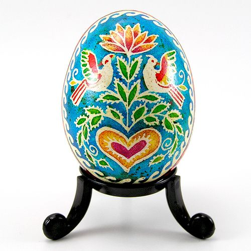Flirty Birds - Real Handmade Traditional Ukrainian Chicken Egg