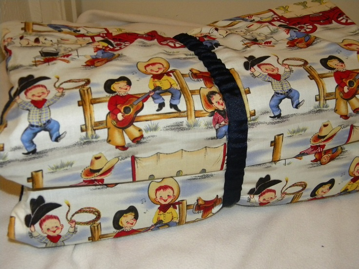 Boys Kinder Mat Cover or Preschool Nap Mat Western Theme. $30.00, via Etsy.