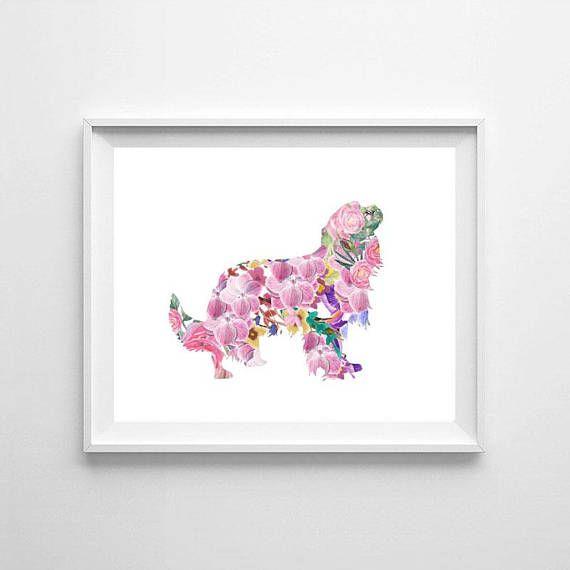 Cavalier King Charles Spaniel watercolor dog watercolor