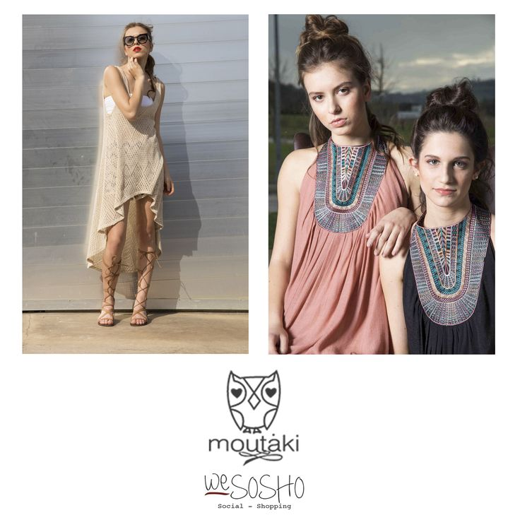 """WeSOSHO Exclusive! moutaki """"What shall we wear this summer?"""" This was the question that aimed to create the collection, started out with a small range of mix-and-match clothing. A company of glamorous and girly clothing and accessories, affordable and timeless. Shop at wesosho.com #wesosho #weglobetrotters #wegreek"""