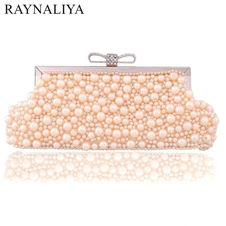 Casual Beading Party Evening Bags Women Clutch Bags Wedding Bridal Handbag Pearl Beaded Fashion Rh Bridal Handbags Clutch Bag Wedding Hobo Handbags